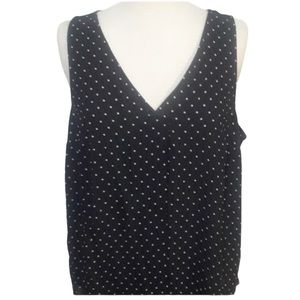 Torrid sleeveless black and white top size 0